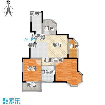 旭辉玫瑰湾A1户型2室1卫1厨