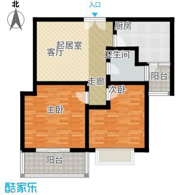 祥腾新领寓C户型2室1卫1厨