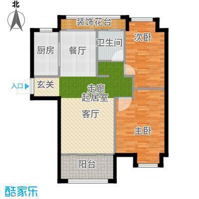 虹桥宝龙城A1户型2室1卫1厨