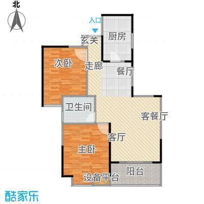虹桥宝龙城户型2室1厅1卫1厨
