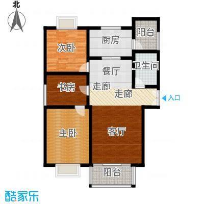 祥腾新领寓A户型3室1卫1厨