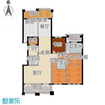 金地佘山天境B-2N/3N/4N/5N/6N户型3室3卫1厨