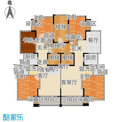 嘉憬河畔公寓90㎡2室2厅1卫户型