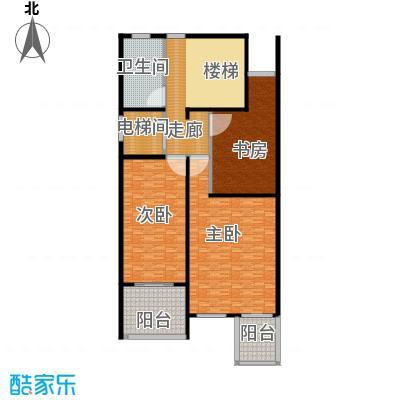 金水湾贵园三期A型的二楼平面图238.73平方米户型