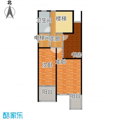 金水湾贵园三期B型的二楼平面图239.55-242.02平方米户型