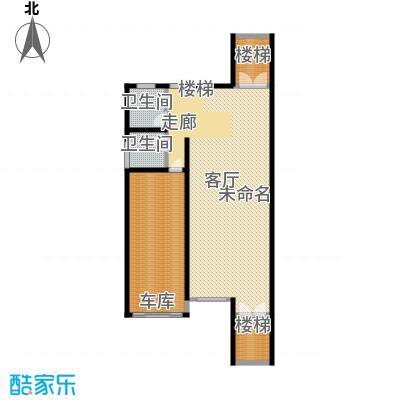 金水湾贵园三期B型的一楼平面图239.55-242.02平方米户型