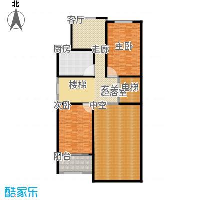 金水湾贵园三期D型的夹板平面图235.55平方米户型