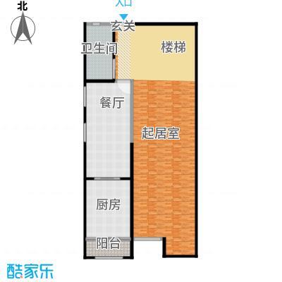 金水湾贵园三期A型的夹层平面图238.73平方米户型