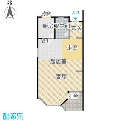 金水湾贵园三期C型的一楼平面图261.36-261.72平方米户型