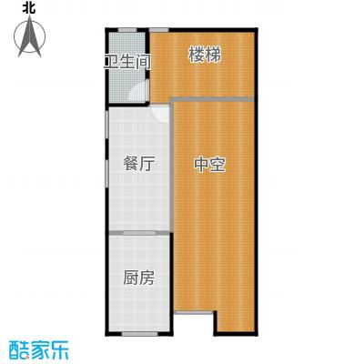 金水湾贵园三期B型的夹层平面图239.55-242.02平方米户型