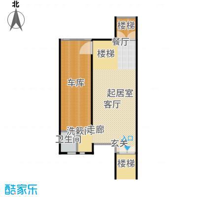 金水湾贵园三期A型的一楼平面图238.73平方米户型