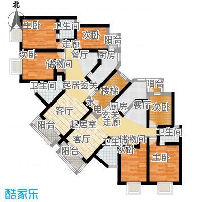 金水湾贵园三期房型: 三房; 面积段: 120 -130 平方米; 户型