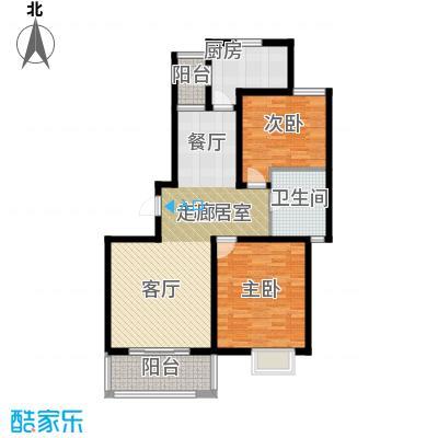 明城海湾新苑B2户型2室1卫1厨