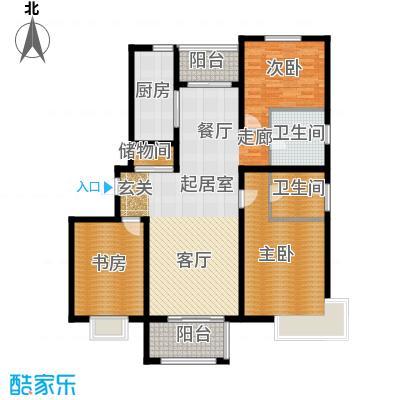 明城海湾新苑C户型3室2卫1厨