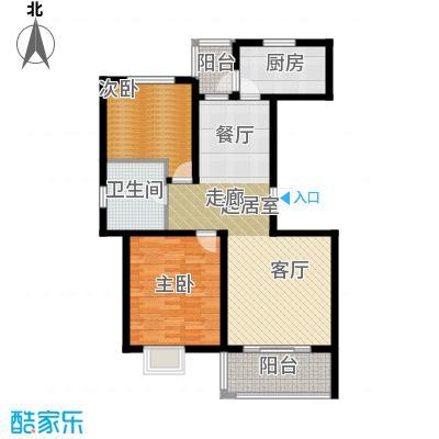明城海湾新苑B4户型2室1卫1厨