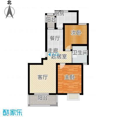 明城海湾新苑B5户型2室1卫1厨