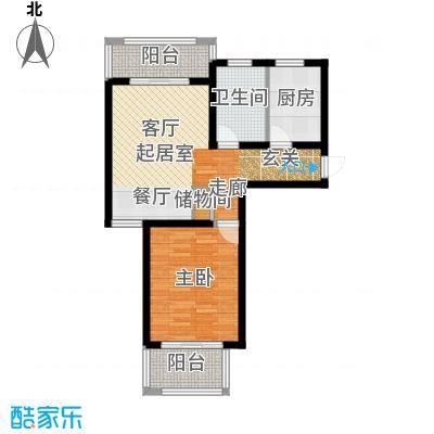 明城海湾新苑户型1室1卫1厨