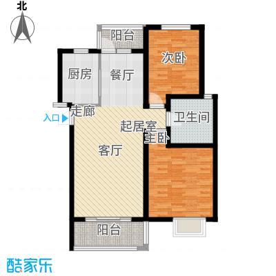 明城海湾新苑B3户型2室1卫1厨