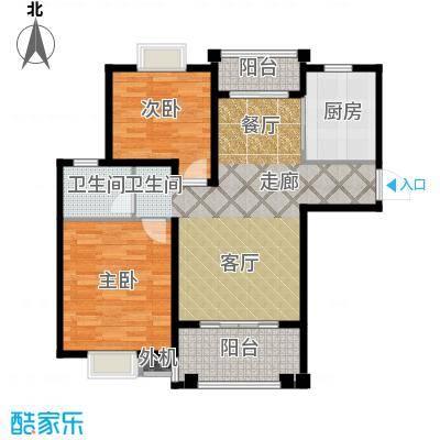 海尚墅林苑85.08㎡C户型2室2厅1卫户型2室2厅1卫