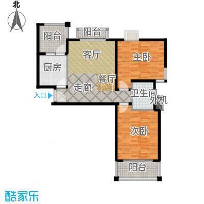 海尚墅林苑88.94㎡D户型2室1厅1卫户型2室1厅1卫