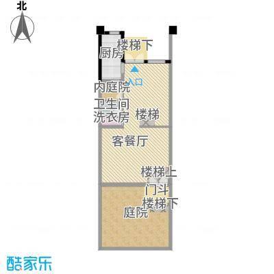 佳兆业珊瑚湾196.00㎡联排别墅A二层户型1厅1卫1厨