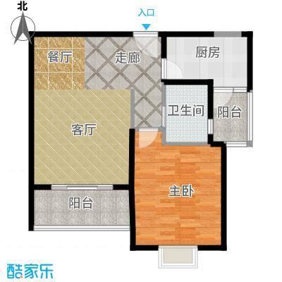 海尚墅林苑68.09㎡H户型1室2厅1卫户型1室2厅1卫