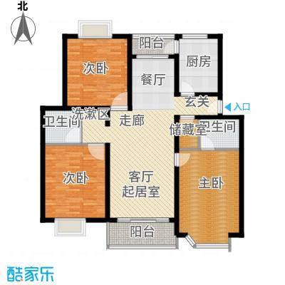 北港和景苑3房2厅1卫,面积约130平方米户型