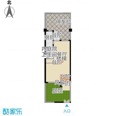 佳兆业珊瑚湾别墅114.83㎡联排A-1二层户型1厅1卫1厨