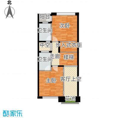 佳兆业珊瑚湾别墅190.32㎡联排A-1一层户型2室2卫
