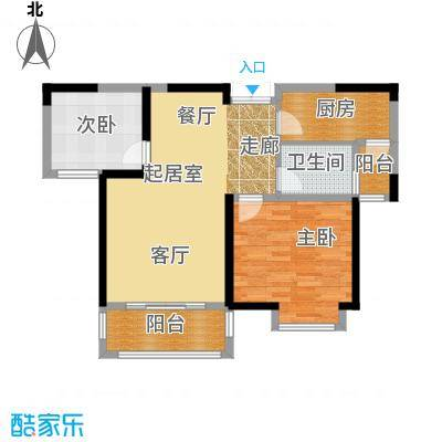 苏宁荣悦B1户型2室1卫1厨