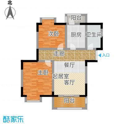 苏宁荣悦E2户型2室1卫1厨