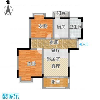 苏宁荣悦E3户型2室1卫1厨