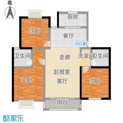 上海一家人楼盘C户型3室2卫1厨