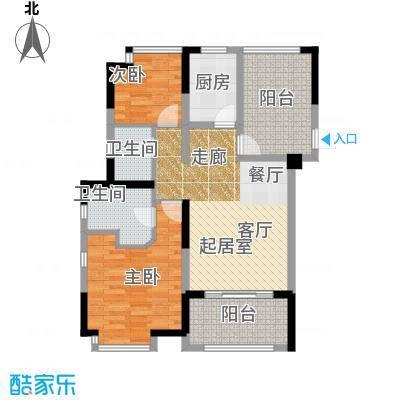 佳兆业珊瑚湾三期A双阳台户型2室2卫1厨