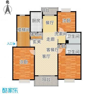 城南丽景新苑110.00㎡房型: 三房; 面积段: 110 -120 平方米;户型