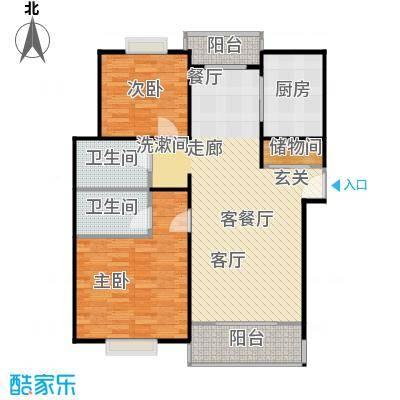 城南丽景新苑90.00㎡房型: 二房; 面积段: 90 -100 平方米;户型
