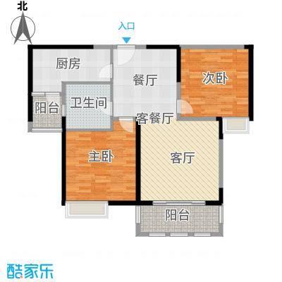 上海顺寓国际社区户型2室1厅1卫1厨