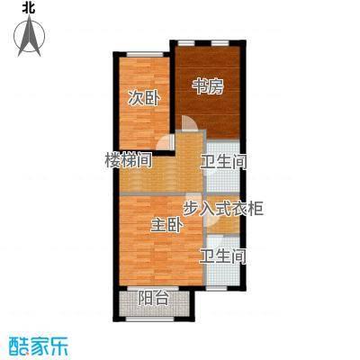 融科托斯卡纳庄园B二层户型3室2卫