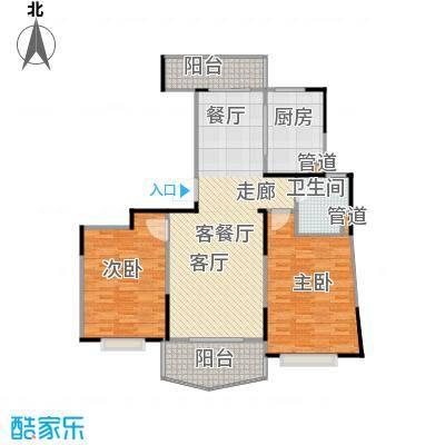 金月湾小区110.00㎡房型: 二房; 面积段: 110 -120 平方米;户型