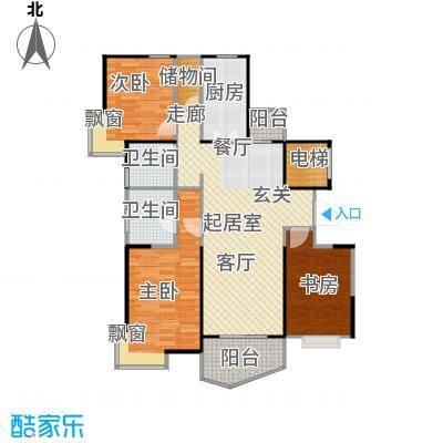 金月湾小区105.00㎡房型: 三房; 面积段: 105 -275 平方米;户型