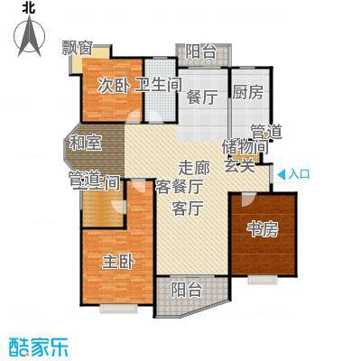金月湾小区户型3室1厅2卫1厨