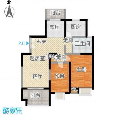 中星怡景花园110.00㎡房型: 二房; 面积段: 110 -120 平方米;户型