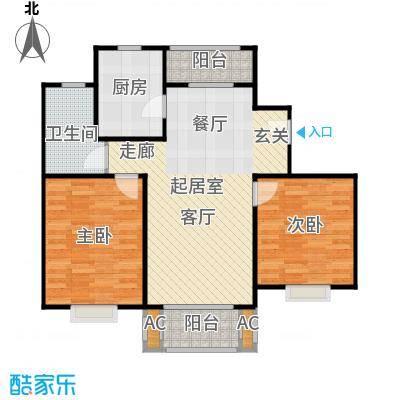 张江汤臣豪园80.00㎡二房二厅一卫-89平方米-119套户型