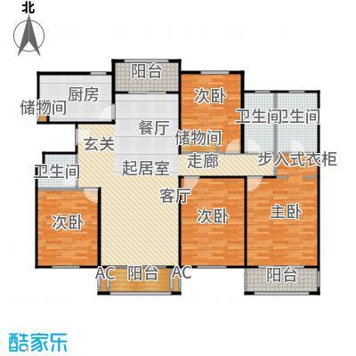 张江汤臣豪园160.00㎡四房二厅二卫-168平方米-36套户型
