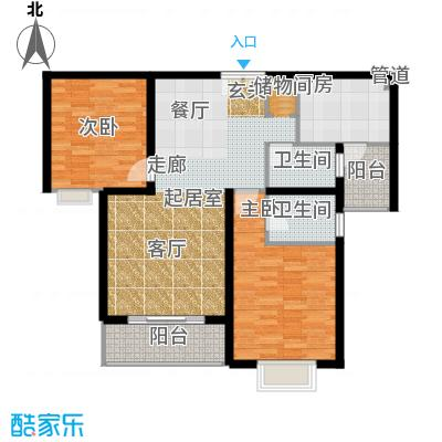 华丽家族花园105.99㎡房型: 二房; 面积段: 105.99 -112.37 平方米; 户型