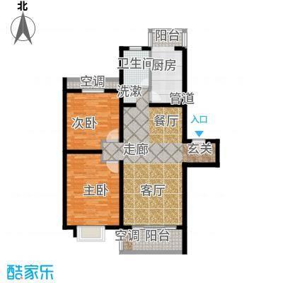 上南花城84.00㎡房型: 二房; 面积段: 84 -113 平方米;户型