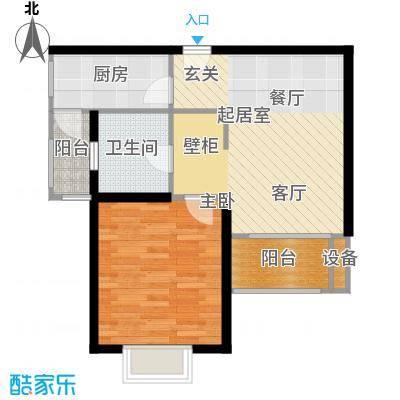 九亭生活佳园60.00㎡房型: 一房; 面积段: 60 -70 平方米; 户型