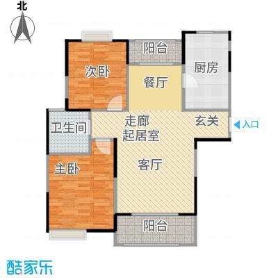 绿地蔷薇九里F3户型2室1卫1厨