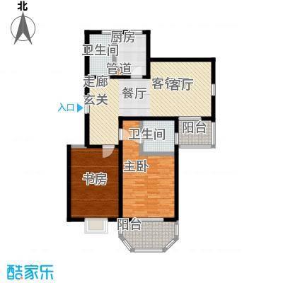 上泰绅苑100.00㎡二房二厅一卫-103.67平方米-27套户型