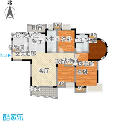 九城湖滨国际公寓133.00㎡C3户型图户型3室2厅2卫